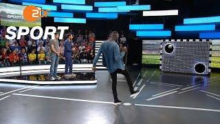 Torwandschießen: Rudolph gegen Rüdiger | das aktuelle sportstudio - ZDF