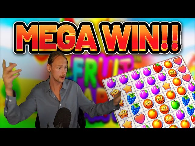 MEGA WIN!!! Fruit Party BIG WIN - Casino Slots from Casinodaddys live stream