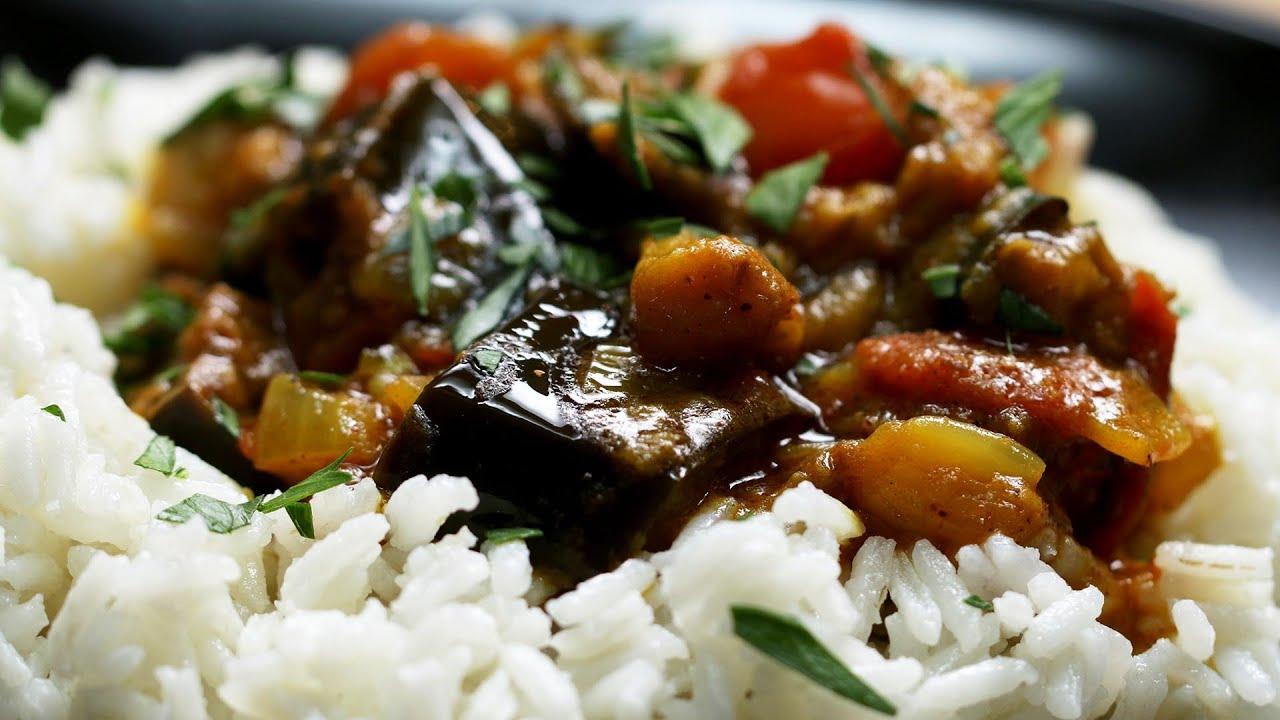 Super Simple Roasted Eggplant Curry