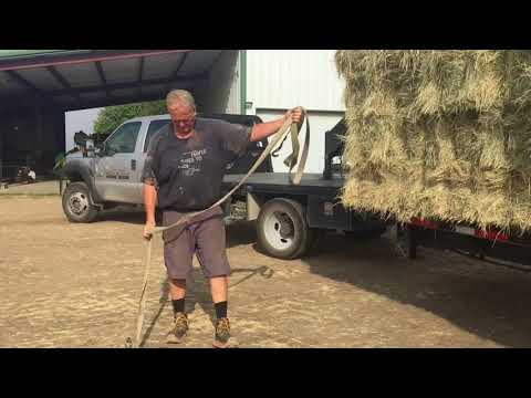 New Holland T6030 Loading Hay for the Feed Store