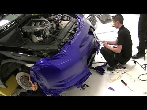 Nissan GTR 2009 - 3M Mystic Blue Vehicle Wrap (Time Lapse)