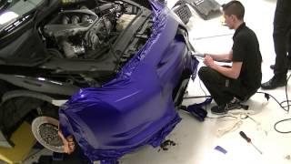 Nissan GTR 2009 - 3M Mystic Blue Vehicle Wrap (Time Lapse)