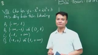 Ôn tập bài toán tính đơn điệu của hàm số bằng máy tính Casio -Toán 12 - Thầy Phạm Quốc Vượng