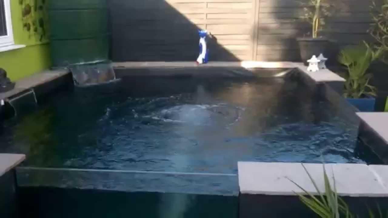 New koi carp pond build youtube for Pool to koi pond conversion