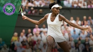 Venus Williams v JeĮena Ostapenko highlights - Wimbledon 2017 quarter-final