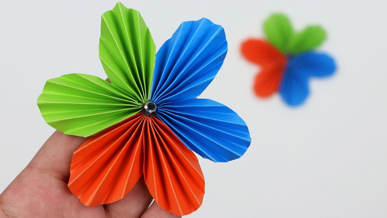 How To Make A Simple Easy Beautiful Flower With Colour Paper Not