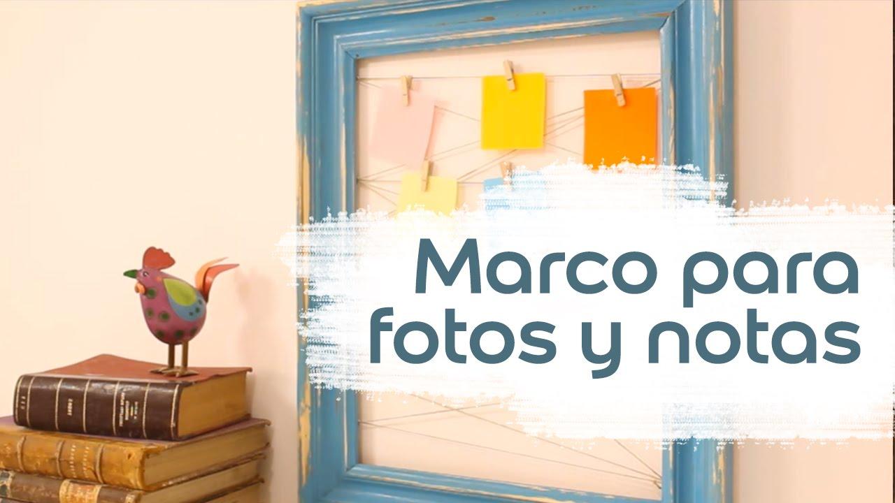 V deo tutorial c mo hacer un marco para fotos y notas bruguer youtube - Marco de fotos multiple ...