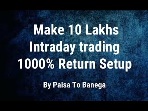Make 10 Lakhs  - Intraday trading  - 1000% Return Setup By Paisa To Banega