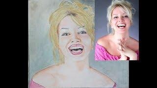 Beautiful Vicky Dalli colored pencil sketch
