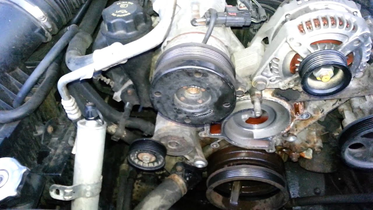 Caravan Water Pump Wiring Diagram How To Replace The Water Pump In A 2006 Jeep Commander W