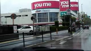台風18号接近中!車載で街の風景in福岡  02