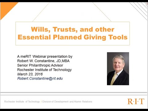 Wills, Trusts & Other Essential Planning Tools