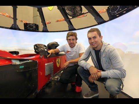MotoGP rider Jorge Lorenzo visits Ferrari