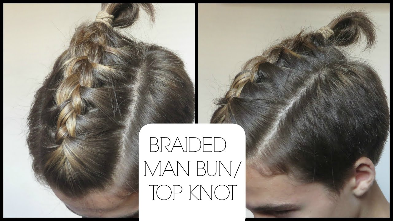 Braided man buntop knot tutorial in 2 minutes youtube ccuart Gallery