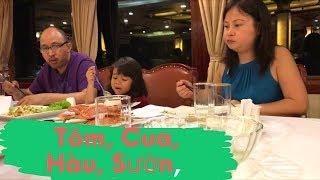 Du Lịch Vịnh Hạ Long - Vợ Việt Chồng Tây ăn tối trên Golden cruise ngon quá // Cuộc Sống Canada