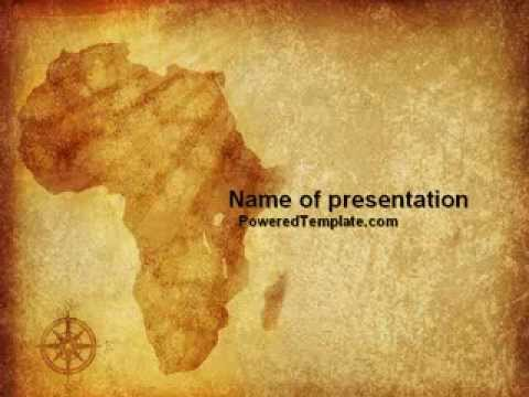 Africa powerpoint template by poweredtemplate youtube toneelgroepblik Image collections