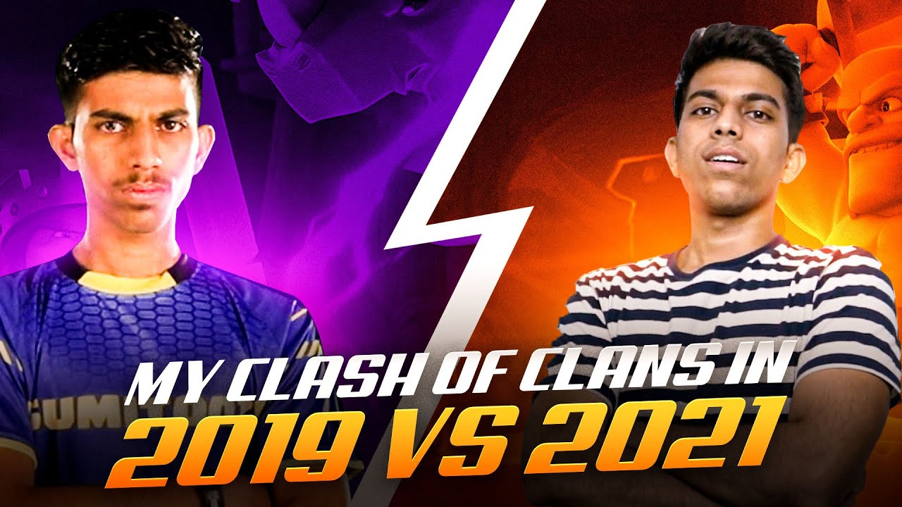 My Clash of Clans in 2019 vs 2021