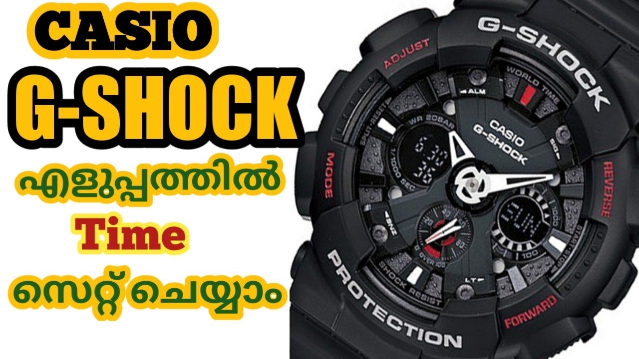 how to set time on g shock 3230