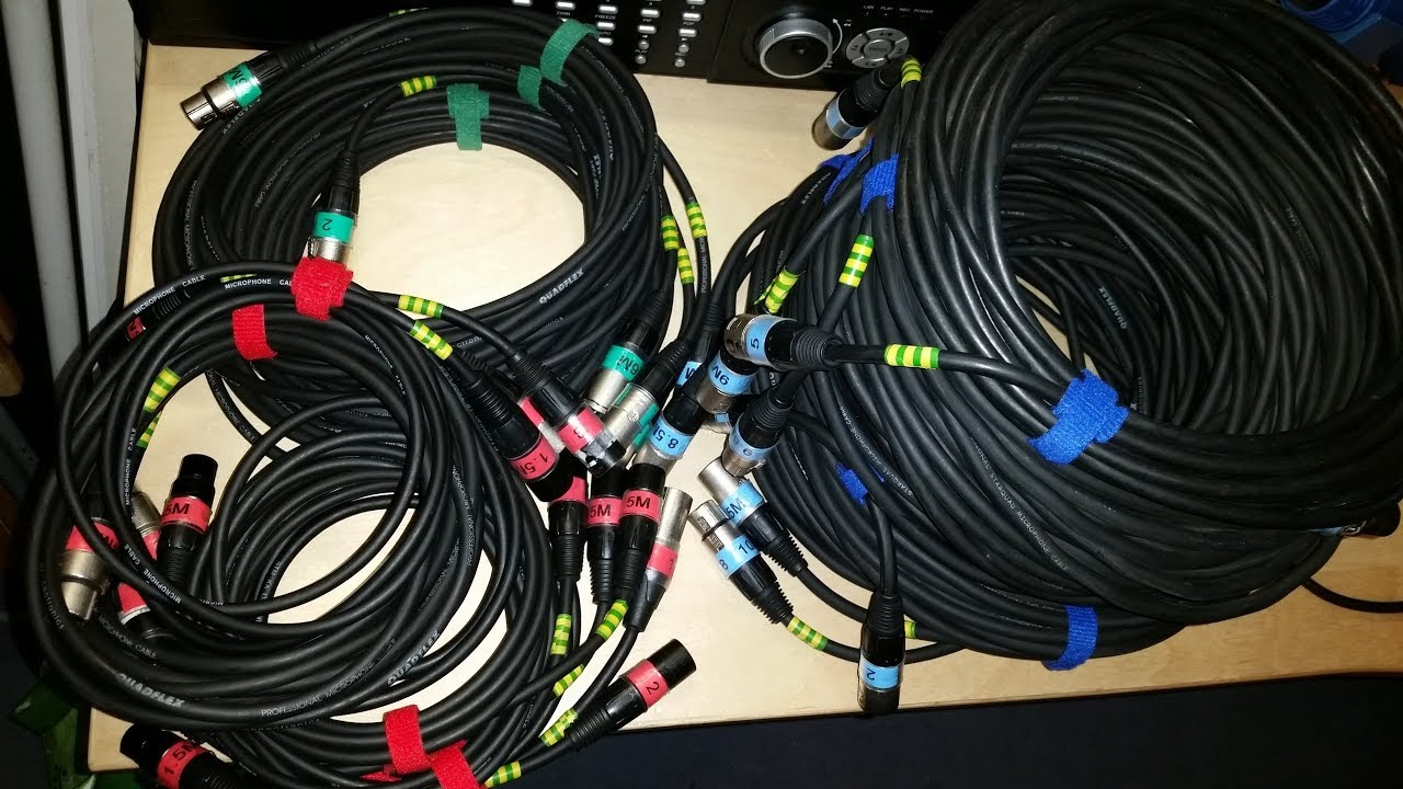 my xlr microphone cable labeling system lengths numbers colours rh youtube com TRS to XLR Wiring xlr wiring colors