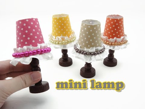 DIY Doll Accessories Mini Lamp - Easy