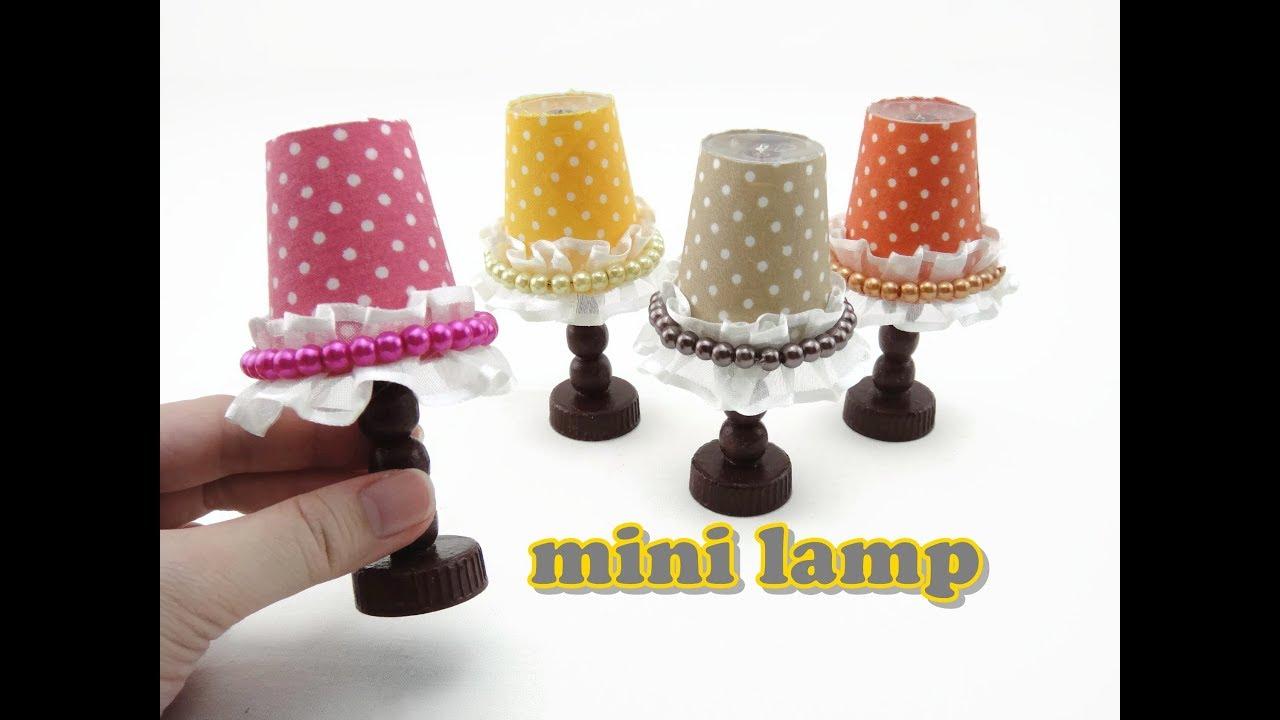 DIY Doll Accessories Mini Lamp   Easy