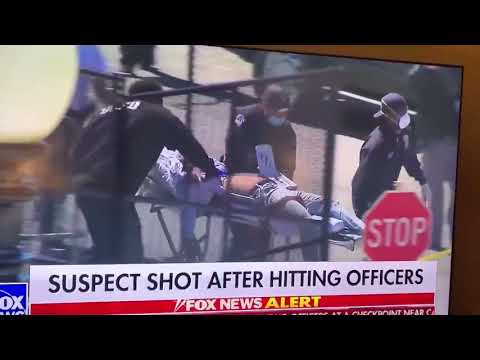 Live Footage of Capitol Shooting Suspect on Stretcher