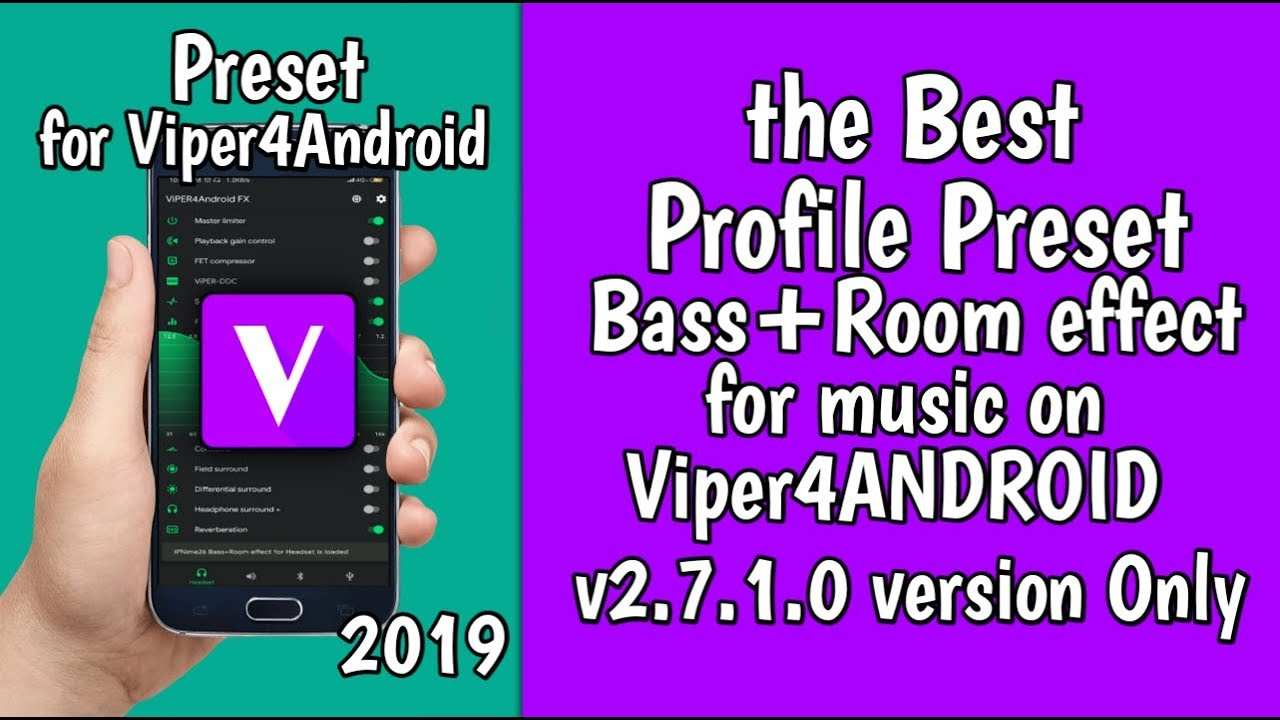 Preset Bass Room effect for Viper4Android v2 7 1 0 - YouTube