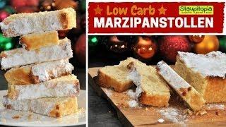 Low Carb Stollen backen ohne Zucker & Mehl! Gesunder Low Carb Marzipanstollen mit Erythrit & Mandeln