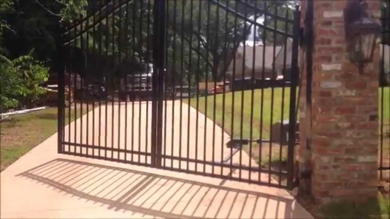 Doorking 6100 With Uphill Swing Hinges Youtube