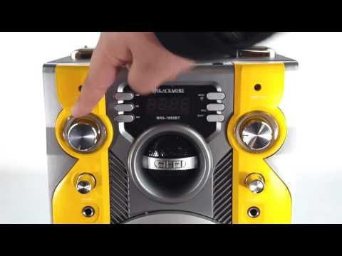 Blackmore BRS 1065BT Portable Rechargeable Bluetooth Speaker Karaoke PA System