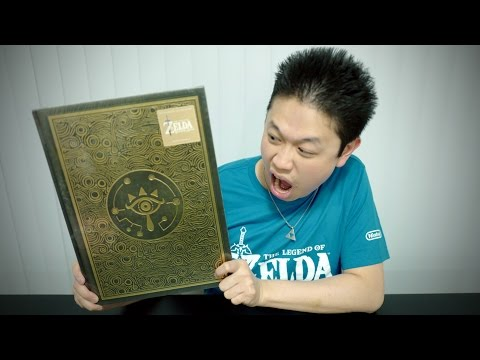 DELUXE EDITION The Legend of Zelda Breath of the Wild GUIDE BOOK UNBOXING