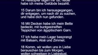 Sprüche 7 - die Torheit unerfahrener Jugendlicher.