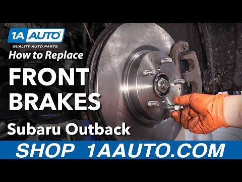 How to Replace Front Brakes 2015 Subaru Outback