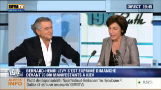 Bernard-Henri Lévy interviewé le 12 février 2014 par Ruth Elkrief sur BFM