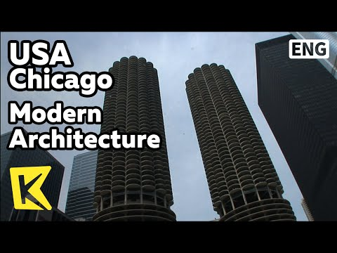 【K】USA Travel-Chicago[미국 여행-시카고]2층 버스, 현대 건축물/Modern Architecture/Double Decker/Merchandise Mart