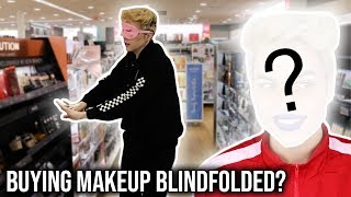 BUYING A FULL FACE OF MAKEUP BLINDFOLDED