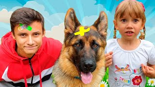 Alena and Pasha play active outdoor games with Pets Chiko TV