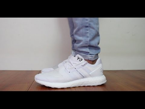 7fe548ac5c6f 小馬開箱介紹Y-3 Y3 PURE BOOST review PK WHITE 水晶白配色BY8955 - YouTube