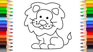 怎样画简单的狮子 let