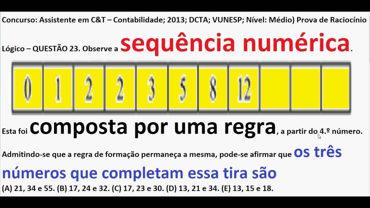 Curso Raciocínio Lógico Padrão Da Sequência Números E Figuras Teste