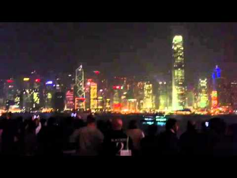 HongKong daily light show