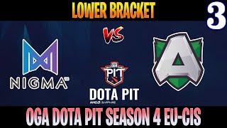 Nigma vs Alliance Game 3 | Bo3 | Lower Bracket AMD SAPPHIRE OGA DOTA PIT S4 EU-CIS | DOTA 2 LIVE