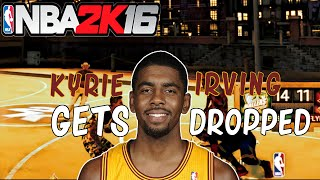 NBA 2K16 Kyrie Irving Gets Dropped On My Park !!! Shaq & Kenny React #CTGxdz #RNG [HD]