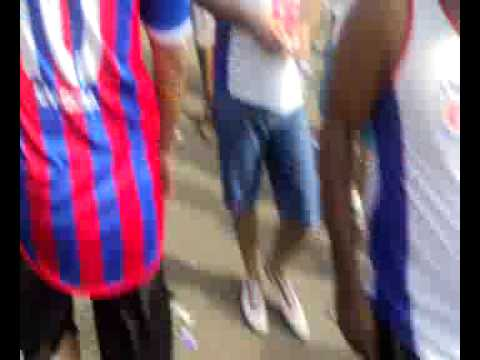 Walking into Bahia Stadium