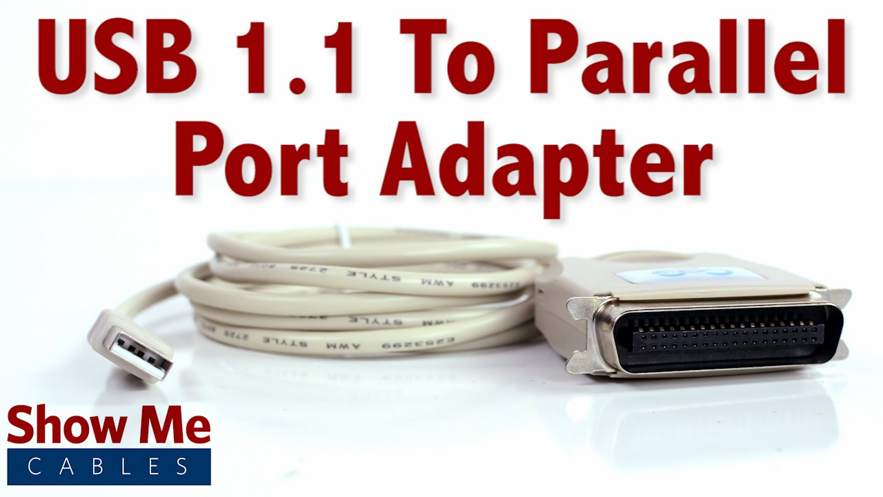 easy to use usb 1 1 to parallel port adapter connect an older printer to your laptop 23 109 015 youtube [ 1280 x 720 Pixel ]