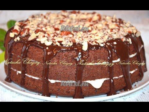 Рецепт Торта  Шоколадный бисквитный торт  Пошаговый рецепт с фото