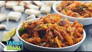 Bread Upma/ Recipe Using Leftover Bread/ Quick and Easy Breakfast or Snack recipe by Tarla Dalal