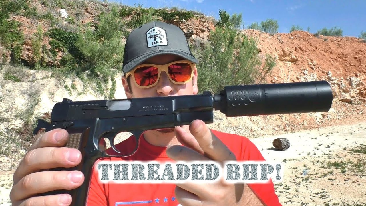 Hi-Power Threaded Barrel from Lone Wolf! Suppress that BHP