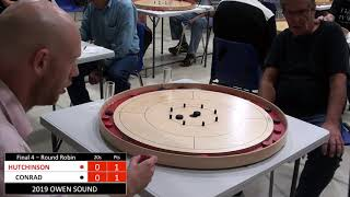 Crokinole 2019 Owen Sound Final 4 - Hutchinson v Conrad