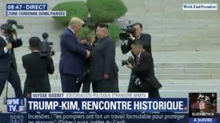 Poignée de main historique entre Trump et Kim dans la zone démilitarisée entre les deux Corées